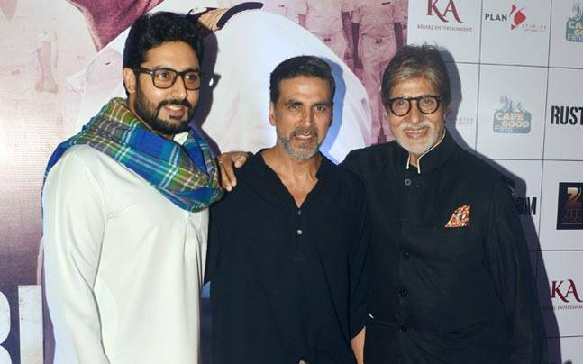 The main cast members of the film including Akshay Kumar and Esha Gupta, they were joined by the Bachchans along with Imran Khan and wife Avantika.