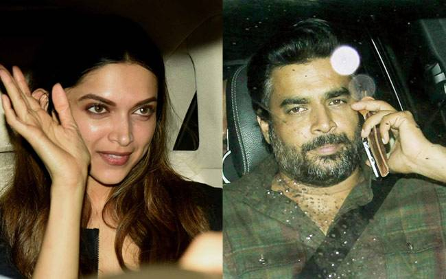 Deepika Padukone was seen going to Bela Bhansali Sehgal's house for dinner while R Madhavan was seen after long attending the screening of Riteish Deshmukh's Banjo at YashRaj studios.