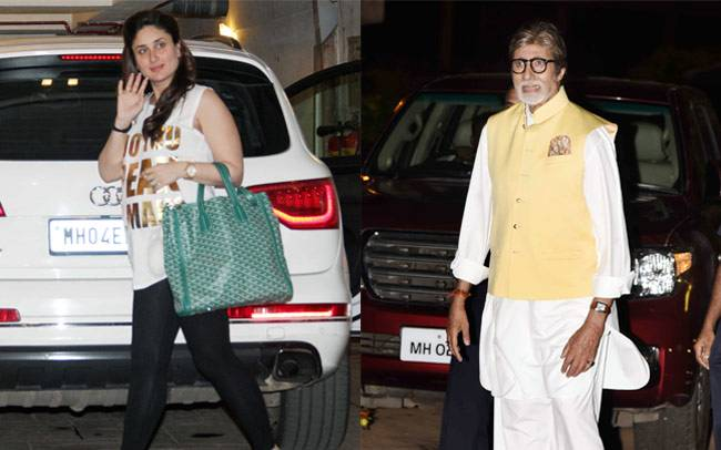 Amitabh Bachchan along with wife Jaya, daughter Shweta attended Reema Jain's star-studded 60th birthday bash, while niece Kareena Kapoor Khan was seen leaving her residence with friend Amrita Arora.