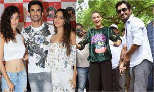 Sushant Singh Rajput, Disha Patani and Kiara Advani were snapped at a radio station while Freaky Ali stars Nawazuddin and Amy Jackson were clicked playing golf.