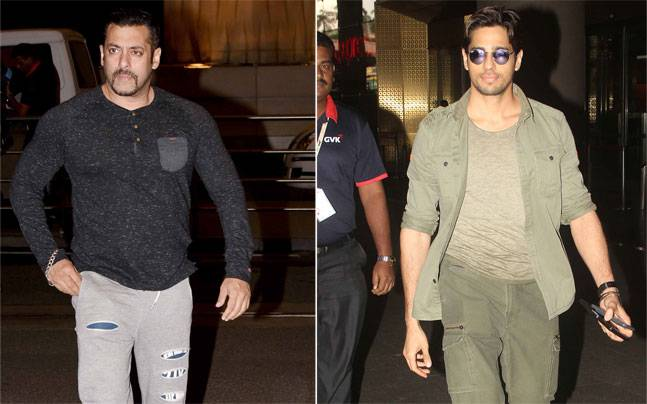 Salman Khan looked like the best version of his macho avatar, while Sidharth Malhotra rocked his kala chashma look as he exited the Mumbai airport.