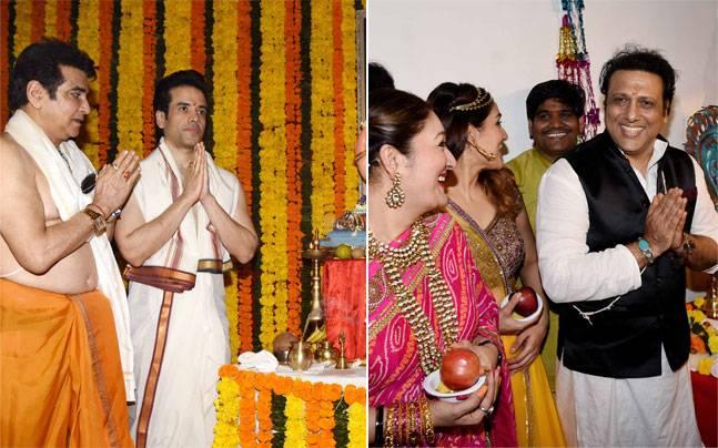 While Jeetendra and Govinda were seen celebrating Ganesh Chaturthi with their families, Baar Baar Dekho stars Sidharth Malhotra and Katrina Kaif were at Mehboob Studio.