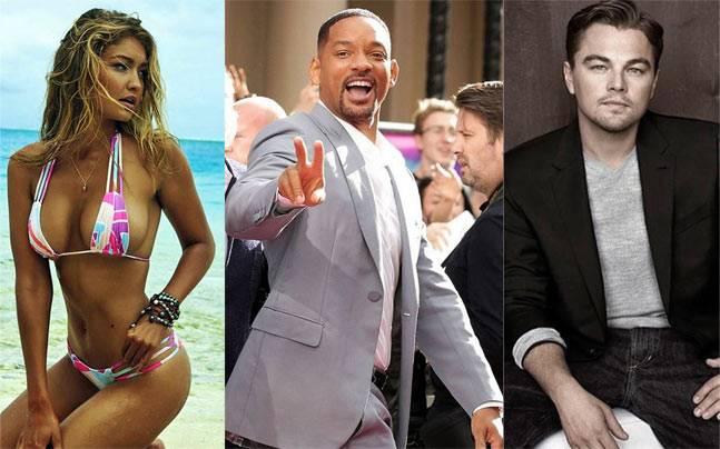 Gigi Hadid, Leonardo DiCaprio, Will Smith