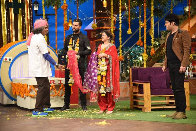 Don't miss the super-fun episode of The Kapil Sharma Show this weekend, as Yuvraj Singh and Hazel Keech grace the show.