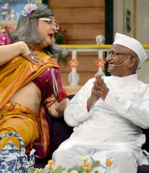 Get to know the lesser-known side to Anna Hazare as he appears on The Kapil Sharma Show soon. Check out the pictures.