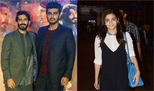 While Alia Bhatt was seen at the Mumbai international airport in a cute, long dress, cousins Arjun Kapoor and Mirzya star Harshvardhan Kapoor posed for the camera.