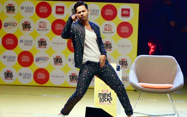 Varun Dhawan was his live-wire self on stage at Mind Rocks 2016, as he spoke about his first kiss, relationships and his fitness mantra.