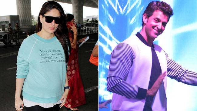 Kareena Kapoor Khan was seen entering the airport with all her maternity glow, while Hrithik shook a leg doing his signature Ek Pal Ka Jeena step at a product launch.