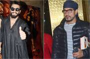 Ranveer Singh attended a Mirzya screening before leaving for the Befikre trailer launch, while Aamir Khan was seen exiting the airport in an interesting hipster avatar.
