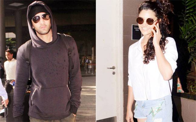 Ranbir Kapoor was seen leaving the city to train for Ayan Mukerji's Dragon, while Saiyami Kher looked like a pretty daisy as she was seen leaving the airport.