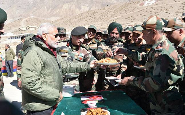 Prime Minister Narendra Modi, today visited Sumdo near the India-China border, in the Kinnaur district of Himachal Pradesh, to celebrate Diwali with the jawans.