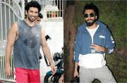 Aditya Roy Kapur was seen outside a gym in Bandra sweating it out for that physique, while Ranveer Singh was seen at Mehboob Studios in his rapper avatar for Zoya Akhtar's next.