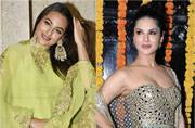 SEE PICS: Sunny Leone and Sonakshi Sinha bring on the festive cheer