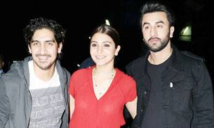 Everyone from Dharma proteges Alia Bhatt, Sidharth Malhotra, friend Ayan Mukerji to Karisma Kapoor and Arjun Kapoor were present at the screening to support the Ranbir-Anushka starrer.