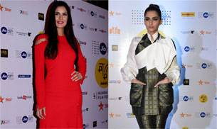 The Baar Baar Dekho actor looked red hot in a cut-out dress, while Sonam justified her tag of a fashion icon, at the closing ceremony of MAMI 2016.