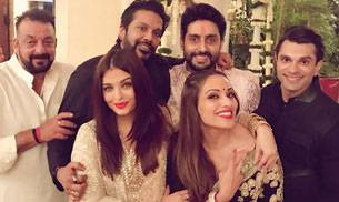 Bollywood's biggest names came together to celebrate Diwali with Amitabh Bachchan and his family in Mumbai. From Shah Rukh Khan to Katrina Kaif to Ranbir Kapoor to Bipasha Basu, many were spotted at Bachchan Diwali bash. c