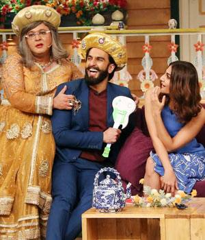 Ranveer Singh, Ali Asgar, and Vaani Kapoor