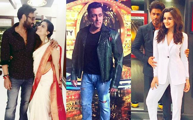While Shah Rukh Khan and Alia Bhatt were dressed like sirs on the sets of Koffee with Karan, Bollywood celebrated Diwali like a boss this week, from Ajay-Kajol to Kabir Khan and Katrina Kaif.