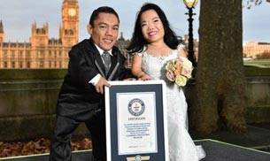 Paulo Gabriel da Silva Barros, Katyucia Lie Hoshino Barros, world's shortest couple, Guinness World Record