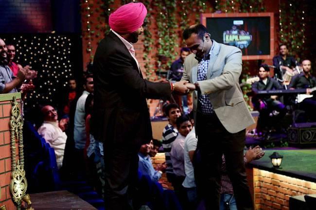 Virender Sehwag and Navjot Singh Sidhu