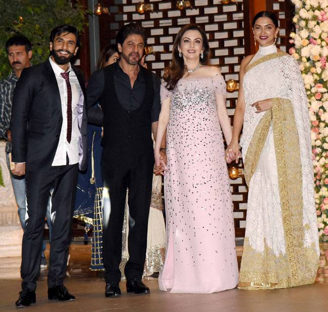 Bollywood's best graced Mukesh and Nita Ambani's gathering to celebrate their niece Isheta's upcoming wedding on Thursday. From Deepika-Ranveer, Shah Rukh-Alia, Aamir-Kiran Rao and the Bachchans, entire B-Town came together last evening.