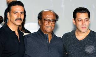 The first look of Rajinikanth and Akshay Kumar-starrer 2.0 was launched at Yash Raj Studios with much pomp and show on Sunday. Besides the film's stars, Salman Khan, Karan Johar, AR Rahman and director Shankar were also present at the event.