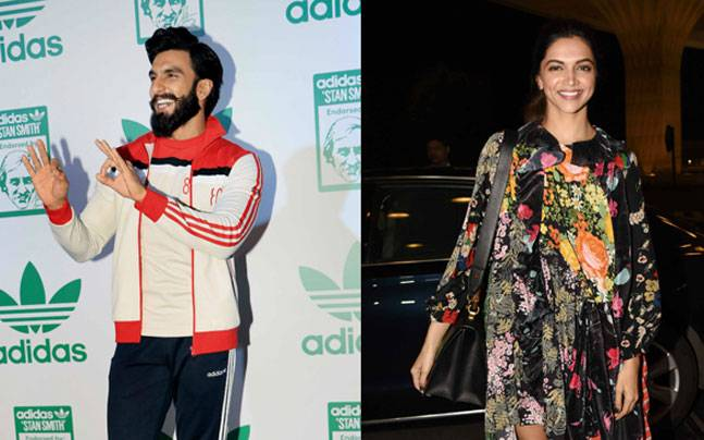 While Ranveer Singh was clicked by the shutterbugs at a promotional event, Deepika Padukone was seen at the airport.