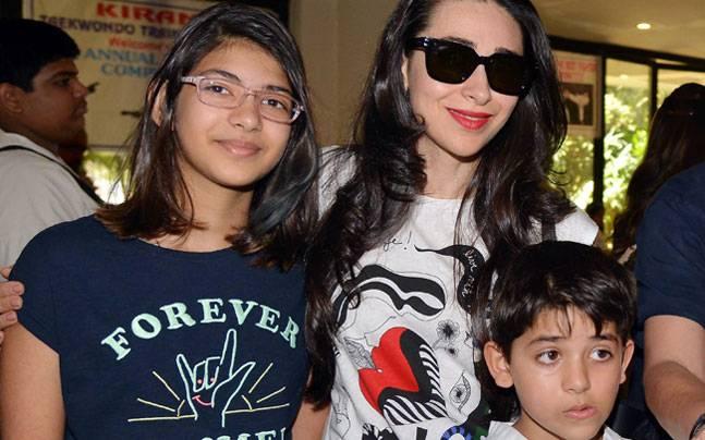 Karisma Kapoor with kids
