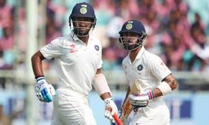 Vizag Test, Virat Kohli, India, England, Cheteshwar Pujara, Murali Vijay, James Anderson