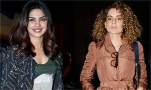 Priyanka Chopra was spotted at Shrishti Behl's party, while Kangana Ranaut turned heads at the airport.