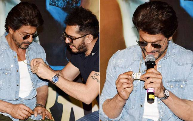 Shah Rukh Khan ensured that the trailer launch of his next film Raees was an afternoon to remember. From speaking about his 3-year-old son AbRam's reaction to the trailer to the photo of his parents in his locket, here are glimpses from the event.