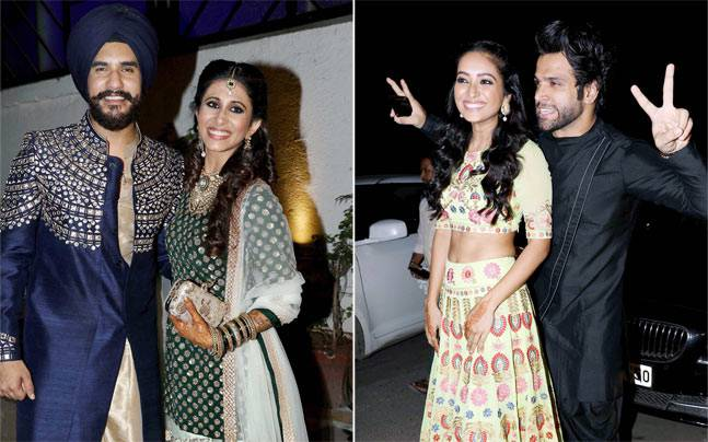 Loads of celebs from telly town were in attendance at Bigg Boss 9 couple Suyyash Rai and Kishwer Merchantt's Sangeet. It was also a Bigg Boss union of sorts.