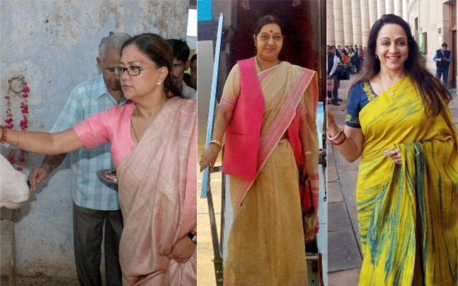 While some of them are poster girls for feminism, the others know how to combine grace with grit perfectly. The women politicians of India flaunt their traditional sartorial styles with aplomb, while getting some real work done through the day. Here's a l