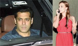 Salman Khan (L) and Iulia Vantur