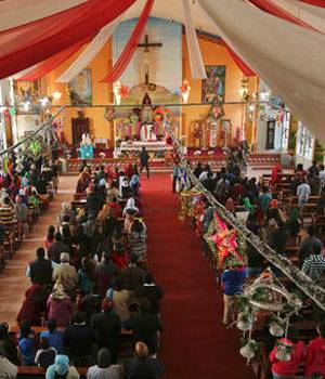 Saint Mary's Garrison Church on the occasion of Christmas in Jammu