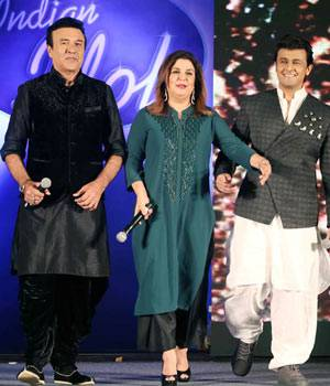 Anu Malik, Farah Khan, and Sonu Nigam