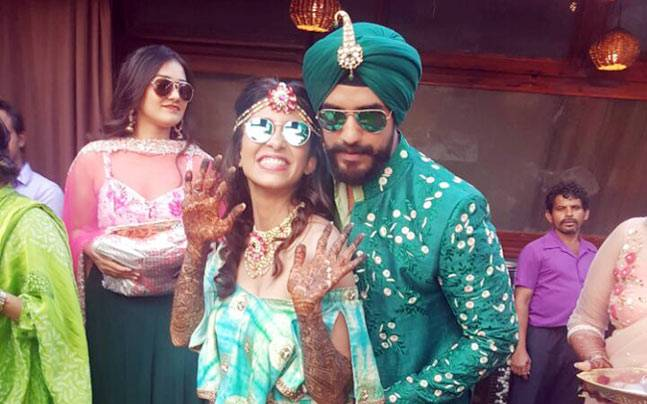Suyyash Rai and Kishwer Merchantt's unconventional wedding, complete with a web series is the talk of the town. Take a look at their mehendi pictures.