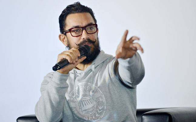 Bollywood superstar Aamir Khan was snapped at the teaser launch of his forthcoming film Secret Superstar.