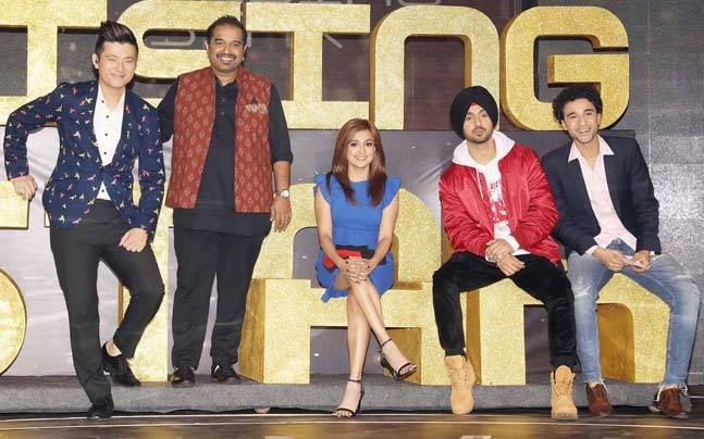Shankar Mahadevan, Diljit Dosanjh and Monali Thakur looked very excited at the launch of their upcoming singing reality show Rising Star.