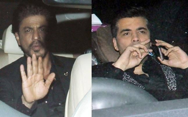 The pre-Filmfare Awards party was star-studded as the Filmfare Awards hosts Shah Rukh Khan and Karan Johar graced the evening along with Tamannaah, Sridevi and Sonakshi Sinha.