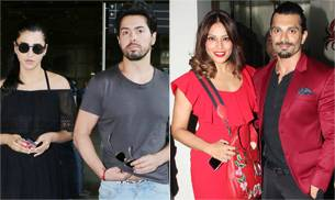 Love is in the air for Bollywood couples. If Bipasha Basu and Karan Singh Grover were seen on a romantic date on Valentine's Day, Shruti Haasan was spotted with a mystery guy at the airport.
