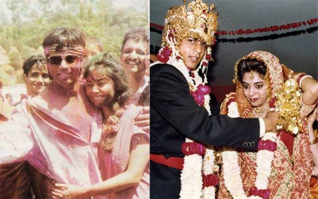 See Shah Rukh Khan Gauri In These Old Photos Because It S Friyay
