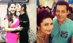 Mouni Roy, Madhuri Dixit, Divyanka Tripathi and Salman Khan.