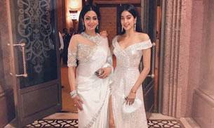 If her 53-year-old mom is a fashionista, Jhanvi Kapoor is no less. Following the footsteps of her superstar mom Sridevi, the diva daughter is taking the style quotient to another level. And this new picture shared by Sridevi on Valentine's Day is a proof