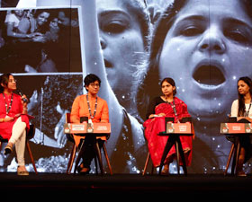 Shehla Rashid, Sabika Abbas Naqvi, Janhawi Ojha and Varada Marathe