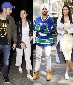 With two days left for Badrinath Ki Dulhania to hit the screens, Alia Bhatt and Varun Dhawan are busy with the film promotions. On the other hand, Anushka Sharma and Diljit Dusanjh are also not far behind as the on-screen couple is busy promoting their up