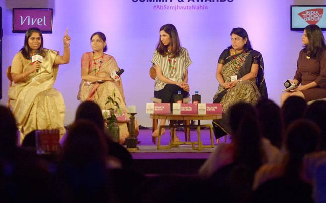 India Today Woman Summit 2017, Boss Women, Shattering Stereotypes, Nykaa, Falguni Nayar, Little Black Book