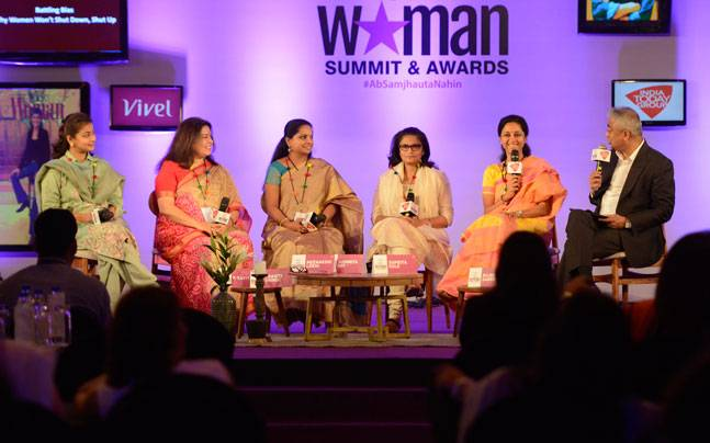 India Today Woman Summit 2017, Battling Bias, Supriya Sule, Meenakshi Lekhi, Sushmita Dev, Praniti Shinde, K Kavitha