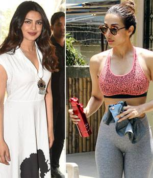 Priyanka Chopra spent some quality time with her family on a lunch date, while Malaika Arora gave everyone fitness goals as she was clicked outside her yoga class.