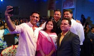 Speakers pose for selfie at India Today Mind Rocks event in Guwahati.